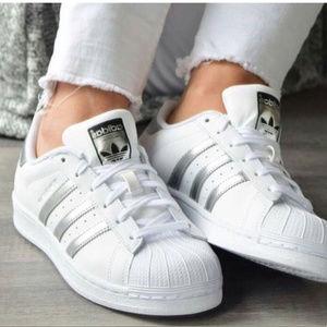 Adidas Superstar Silver Stripe Sneakers